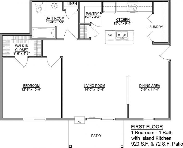 Apartment Unit A Rental Floorplan